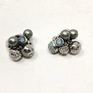 Swarovski Crystal Bauble Clip on Earrings